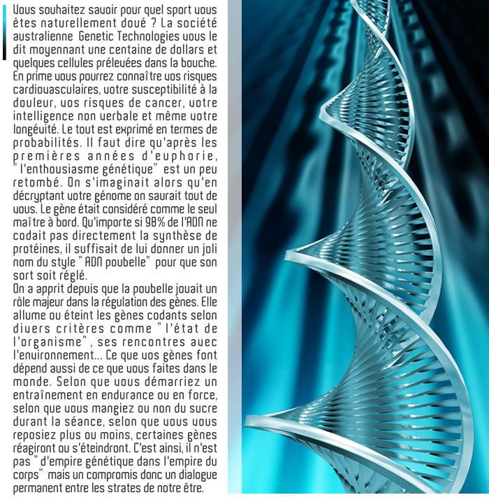 le mythe du tout génétique