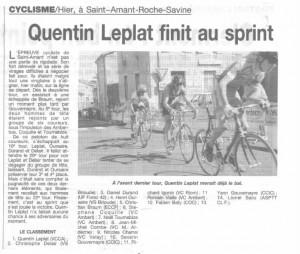 finir au sprint... c'est rare, mais je n'avais pas pu faire mieux ce jour là (2001)