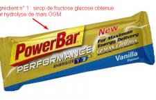 ingrédient POWERBAR