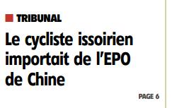 dopage EPO auvergne issoire